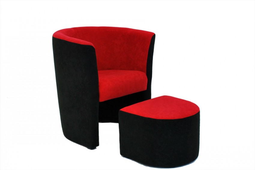 sessel clubsessel hocker sitzhocker cocktailsessel loungesessel microfaser ebay. Black Bedroom Furniture Sets. Home Design Ideas